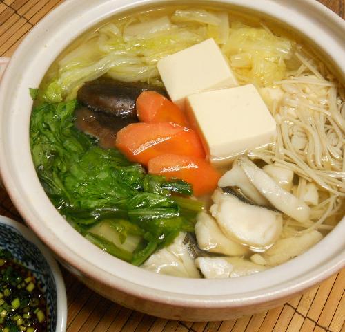 鱈と冬野菜の湯豆腐鍋